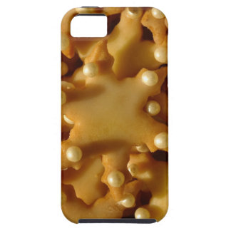 Christmas Cookies Stars Beads Golden Brown iPhone SE/5/5s Case