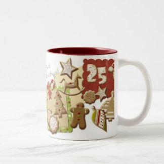 Christmas cookies Two-Tone coffee mug