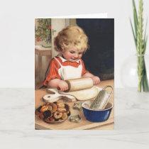 Christmas Cookies Vintage Christmas Card