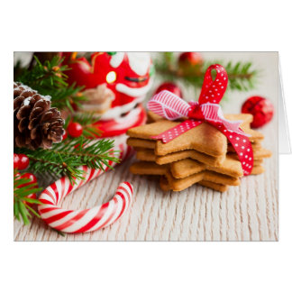 Christmas cookies with festive decoration card