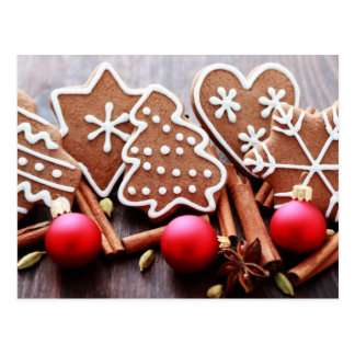 Christmas cookies with spices - Christmas time Postcard