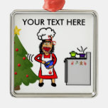 Christmas Cooking and Baking Square Metal Christmas Ornament