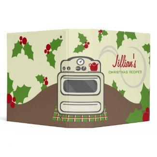 Christmas Cooking Recipe Binder - Retro Kitchen binder