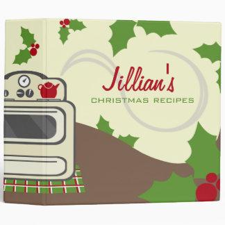 Christmas Cooking Recipe Binder - Retro Kitchen