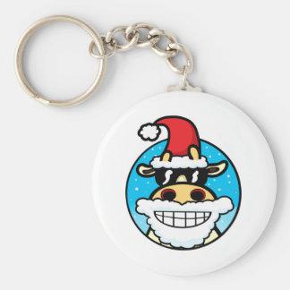Christmas Cool Cow Keychain