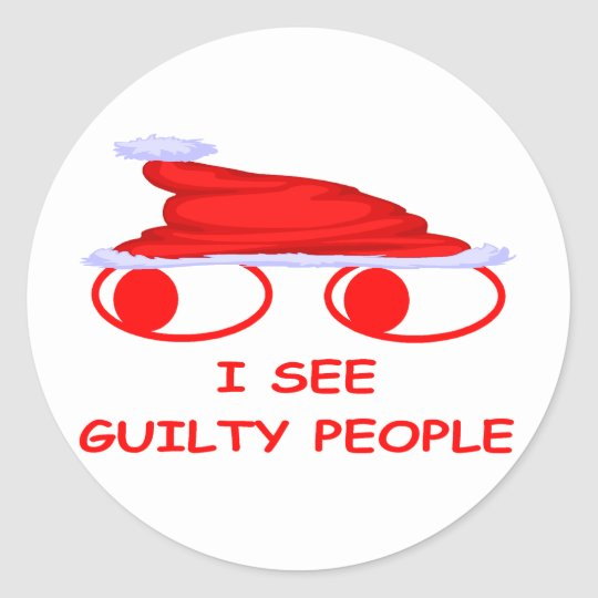 Christmas Cop Classic Round Sticker