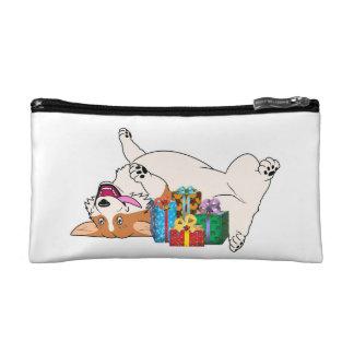 Christmas Corgi Makeup Bags