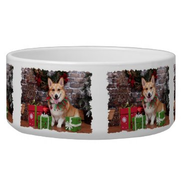 Christmas Themed Christmas - Corgi - Cal Bowl