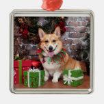 Christmas - Corgi - Cal Christmas Tree Ornaments