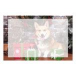 Christmas - Corgi - Cal Personalized Stationery