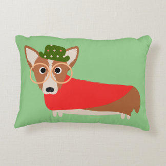 Christmas Corgi Decorative Pillow