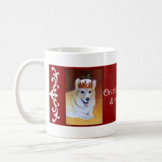 Christmas Corgi Figgy Pudding Mug