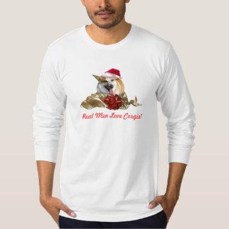 Christmas Corgi Mens Shirt