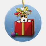 Christmas Corgi Puppy Ornament (Double Sided)