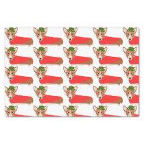 Christmas Corgi Tissue Paper