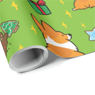 Christmas Corgi Wrapping Paper | CorgiThings