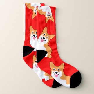 Christmas Corgis Socks