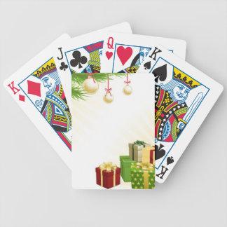 Christmas corner elements poker cards