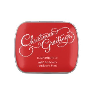 Christmas Corporate Give Away Jelly Belly Candy Tins