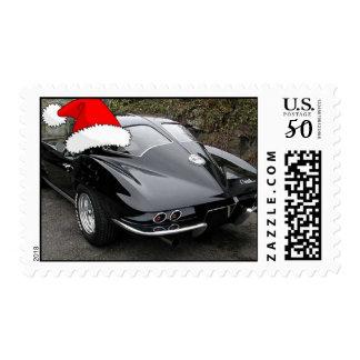 Christmas Corvette Split Window Postage