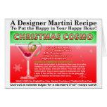 CHRISTMAS COSMOPOLITAN COCKTAIL RECIPE CARD