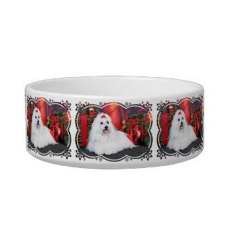 Christmas - Coton de Tulear - Sophie Cat Food Bowls