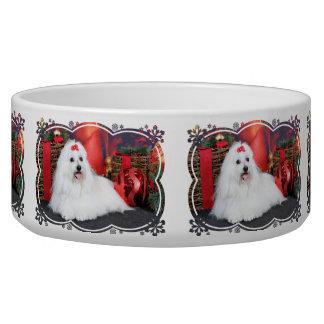 Christmas - Coton de Tulear - Sophie Dog Food Bowls