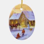 Christmas Cottage Christmas Tree Ornament