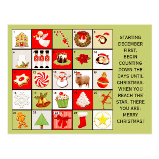 Christmas Countdown greeting cards