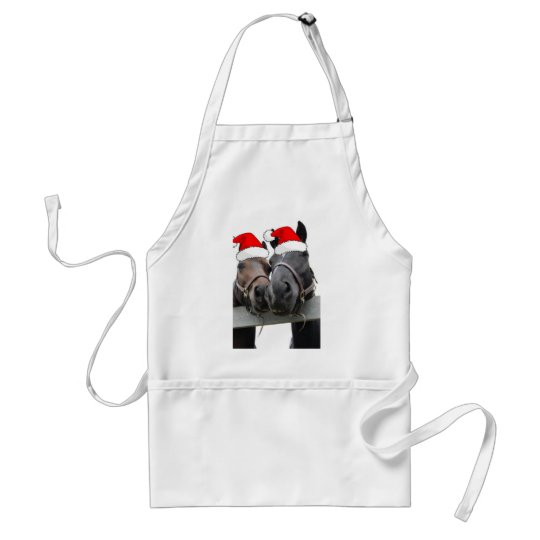 Christmas Country Horses Adult Apron