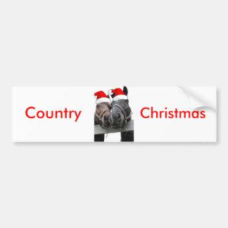Christmas Country Horses Bumper Sticker