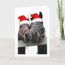 Christmas Country Horses Holiday Card