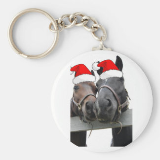 Christmas Country Horses Keychain