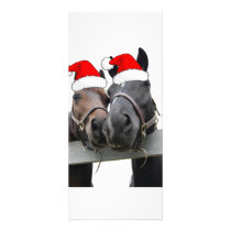 Christmas Country Horses Rack Card