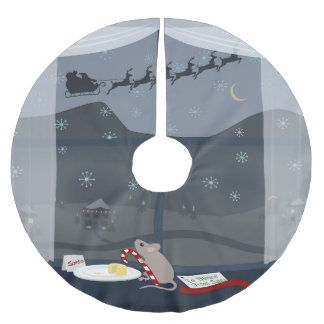 Christmas Country Mouse Brushed Polyester Tree Skirt