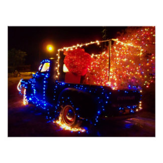 Christmas Country Pickup Truck Christmas Poster