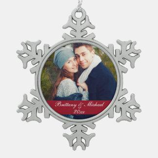 Christmas Couple Photo Ornament Year SF