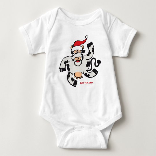Christmas Cow Baby Bodysuit