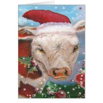 Christmas Cow Design Card