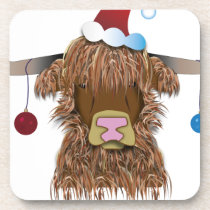 Christmas Cow Drink Coaster