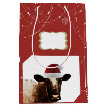 Christmas Cow Gift Bag
