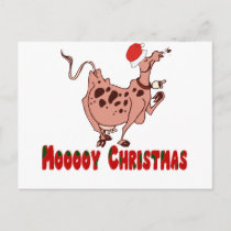 Christmas Cow Gifts T-shirts Mugs Tote Bags Holiday Postcard