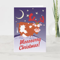 Christmas Cow Holiday Card