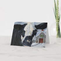 Christmas Cow Holiday Card