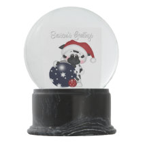 Christmas Cow Holiday snow globe