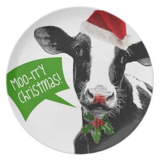Christmas Cow - Moory Xmas! Dinner Plate