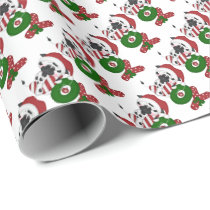 Christmas cow pattern wrapping paper