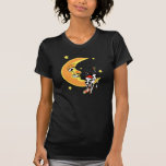 Christmas cow slumped over the moon t-shirt