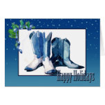 Christmas Cowboy Boots Card