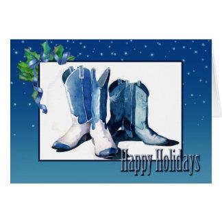 Christmas Cowboy Boots Card